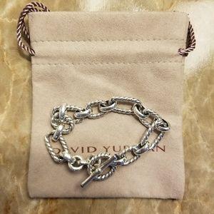 DAVID YURMAN Cushion Link Bracelet w/ Lapis Lazuli